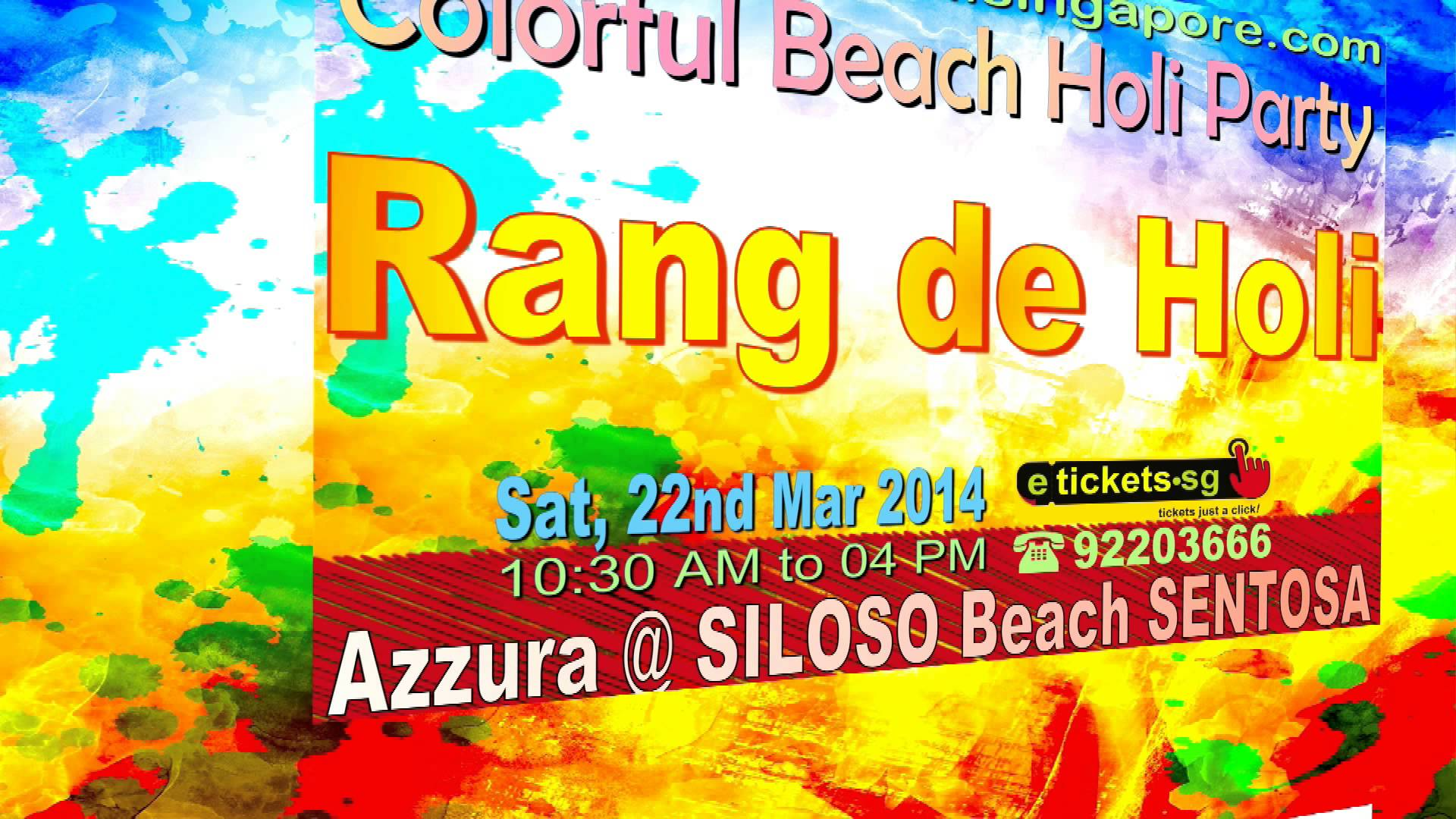 Join Singapore Holi Celebrations At Silioso Beach Sentosa