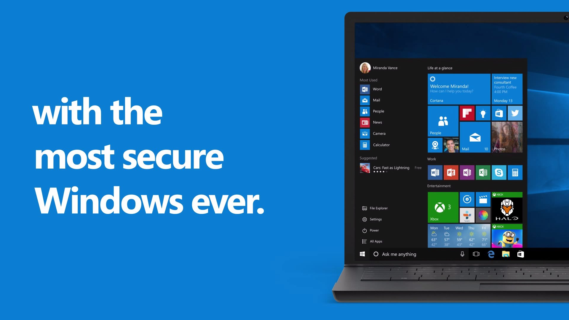 "Windows 10 is ""the most secure Windows ever"""