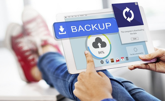 59452569 - backup cloud upload sync data concept